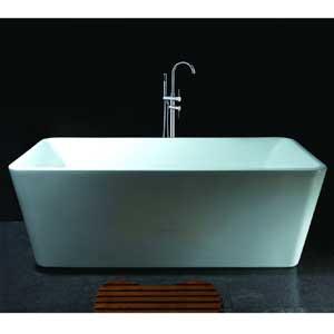 AKDY Bathroom White Color FreeStand Acrylic Bathtub And Faucet AZ-F245-WFB