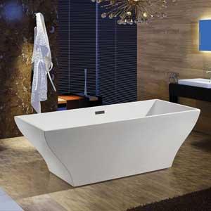 AKDY F296A Bathroom White Color Free Standing Acrylic Bathtub