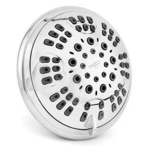Aqua Elegante 6 Function Luxury Shower Head - Best High Pressure, Wall Mount, Adjustable Showerhead - Chrome