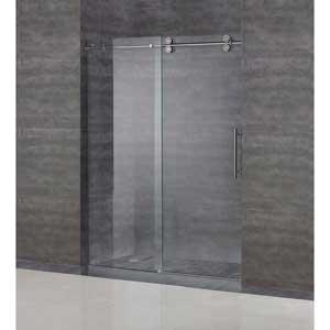 """Aston SDR978-SS-60-10 60"""" Frameless Sliding Shower Door, Stainless Steel Hardware, 3/8"""" (10Mm) Glass"""