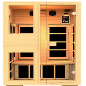 JNH Lifestyles NE2HB1 ENSI Collection 2 Person NO EMF Infrared Sauna