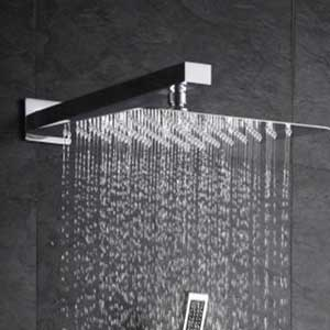 Bathroom Fixtures 10 Inch Full Body Waterfall Shower Heads Round High Pressure Rainfall Shower Head Rain Showerheads