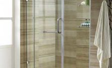VIGO Pirouette 48 to 54-in. Frameless Shower Door with .375-in. Clear Glass and Chrome Hardware