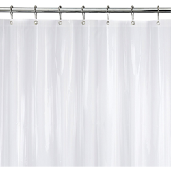 Strongest Mildew Resistant Shower Curtain Liner Clear