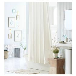 Mildew Resistant Fabric Shower Curtain White