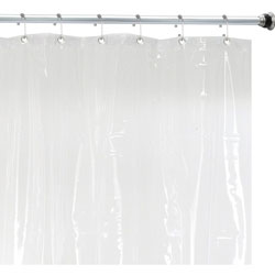 Premium Mildew Resistant Shower Curtain Liner Clear