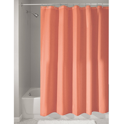 InterDesign Mildew-Free Water-Repellent Fabric Shower Curtain
