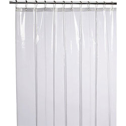 LiBa Mildew Resistant PEVA 8G Shower Curtain Liner