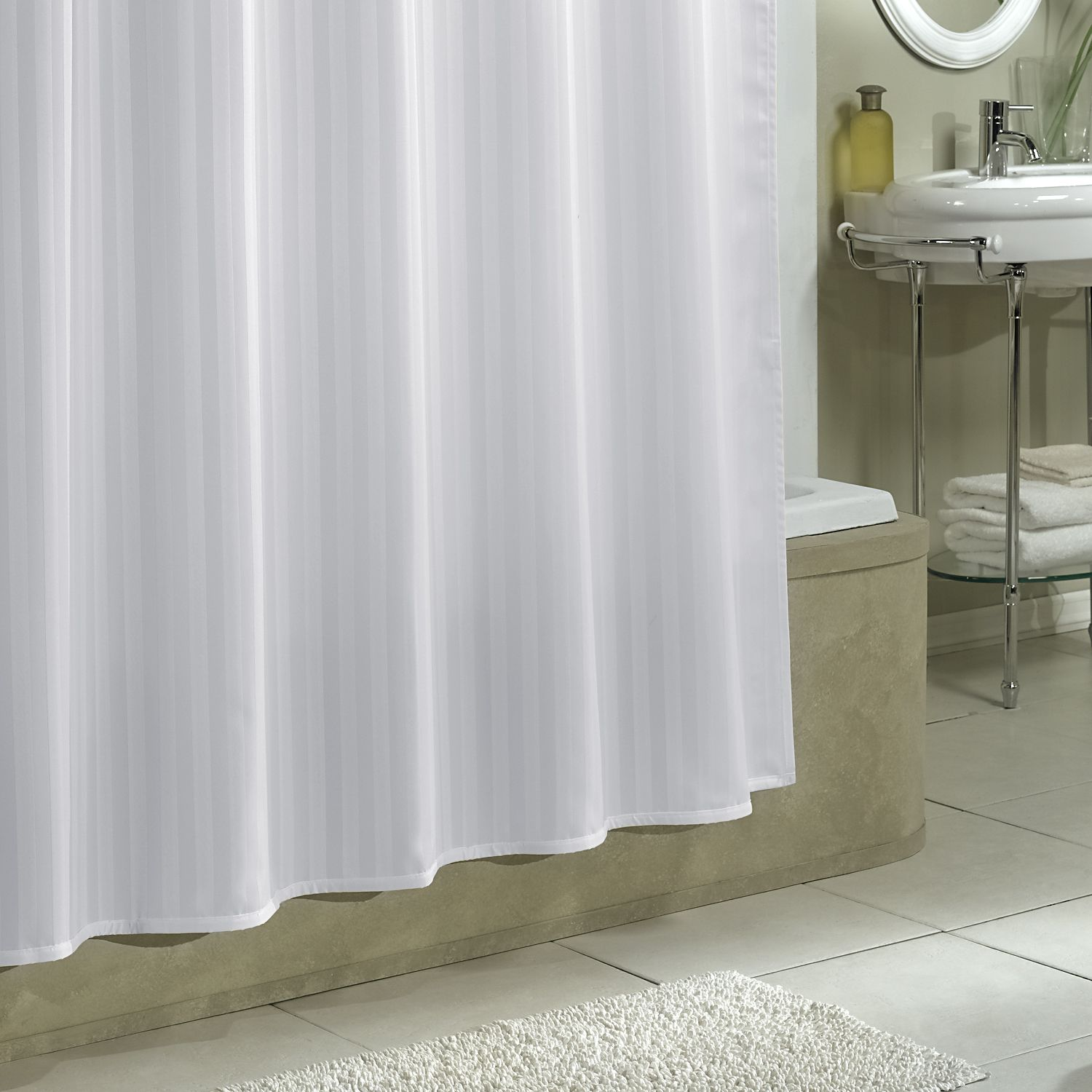 Shower Curtain Fabric Reflections Gray Fabric Shower
