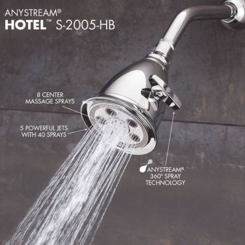 New - Features Of The Speakman S-2005-HB Hotel Anystream High-Pressure Adjustable Shower Head