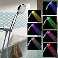 New - LED Shower Head with Shower Hose - Color Changing LED Shower Head