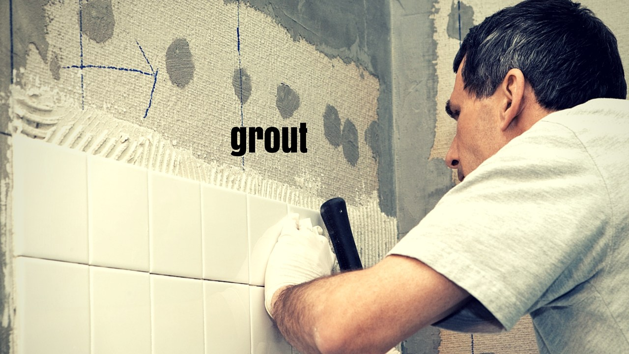 grouting shower floor
