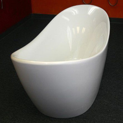New - AKDY F210 BATHROOM WHITE COLOR FREE STANDING ACRYLIC BATHTUB