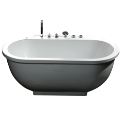 New - ARIEL BATH AM128JDCLZ WHIRLPOOL TUB
