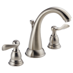 New - DELTA WINDERMERE B3596LF-SS TWO HANDLE WIDESPREAD LAVATORY FAUCET