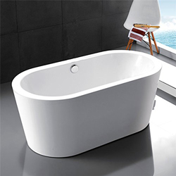 New - Kaifeng Modern Freestanding Acrylic Soaking Bathtub, Glossy White
