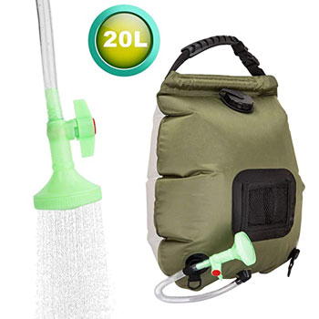 FeChiX Upgraded Solar Shower Bag