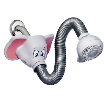 Waterpik KSH-306T Safari Spray Elephant Flexible Kids Shower Head