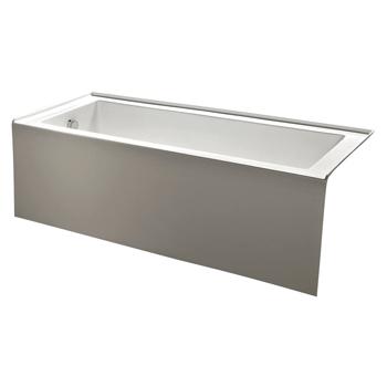 Kingston Brass VTDE603122L 60-Inch Contemporary Alcove Acrylic Bathtub